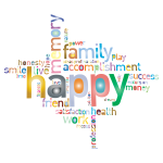 Prismatic Happy Family Word Cloud 2 No Background
