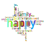 Prismatic Happy Family Word Cloud 3 No Background