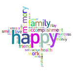 Prismatic Happy Family Word Cloud No Background