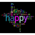 Prismatic Happy Family Word Cloud