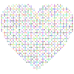 Prismatic Heart Love Typography