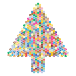 Prismatic Hexagonal Abstract Christmas Tree 2