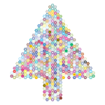 Prismatic Hexagonal Abstract Christmas Tree 3