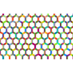 Prismatic Hexagonal Geometric Pattern 3 No Background