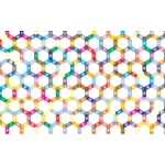 Prismatic Hexagonal Geometric Pattern No Background
