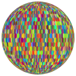Prismatic Hexagonal Grid Sphere Variation 2 4