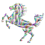 Prismatic Horse Silhouette Abstract Line Art