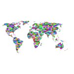Prismatic Jigsaw Puzzle World Map