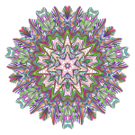 Prismatic Line Art Mandala No Background