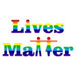 Prismatic Lives Matter Typography 2