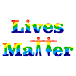Prismatic Lives Matter Typography 3
