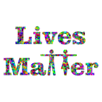 Prismatic Lives Matter Typography