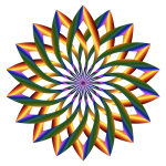 Prismatic Lotus Flower With No Background