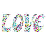 Prismatic Love Hearts Typography 2