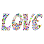 Prismatic Love Hearts Typography 4