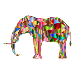 Prismatic Low Poly 3D Elephant Variation 5
