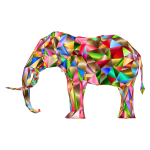 Prismatic Low Poly 3D Elephant Variation 6