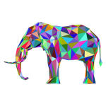 Prismatic Low Poly 3D Elephant