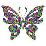 Prismatic Low Poly Butterfly