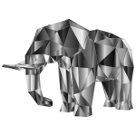 Prismatic Low Poly Elephant 3
