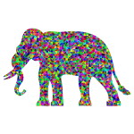 Prismatic Low Poly Elephant