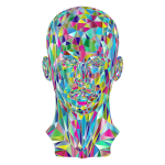 Prismatic Low Poly Female Head 2 Variation 2