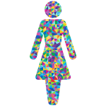Prismatic female symbol