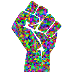 Prismatic Low Poly Fist
