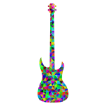 Prismatic Low Poly Guitar