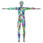 Prismatic Low Poly Human Male Variation 2