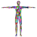 Prismatic Low Poly Human Male
