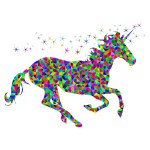 Prismatic Low Poly Magical Unicorn