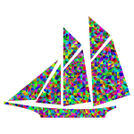 Prismatic Low Poly Sailboat