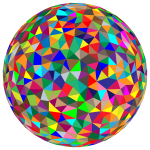 Prismatic Low Poly Sphere 5