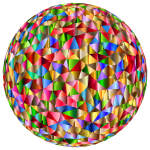 Prismatic Low Poly Sphere 6