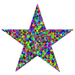 Prismatic Low Poly Star