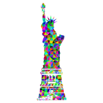 Prismatic Low Poly Statue Of Liberty