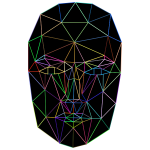 Prismatic Low Poly Wireframe Head