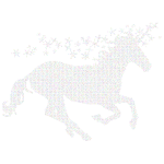 Prismatic Magical Unicorn Typography
