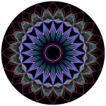 Prismatic Mandala Line Art Design 3