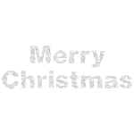Prismatic Merry Christmas Word Cloud No Background