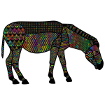 Prismatic Ornamental Decorated Zebra