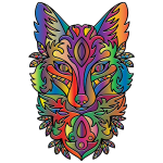 Prismatic Ornamental Fox Line Art