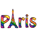 Prismatic Paris Typography Enhanced
