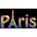 Prismatic Paris Typography