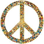 Prismatic Peace Sign 15 Enhanced No Background