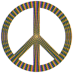 Prismatic Peace Sign 17 No Background