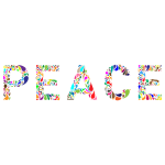 Prismatic Peace Typography No Background