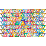 Prismatic Penrose Triangle Pattern 2