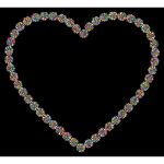 Prismatic Petals Heart 3 With Background